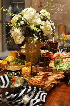 Glamorous Black and Gold 50th Birthday Party | CatchMyParty.com