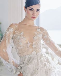 "Weddings & Inspiration on Instagram: ""Kicking off this #fineartfriday with one of our favorite bridal designers @paolo_sebastian... Sing Sweet Nightingale. From the…"""