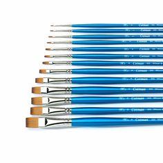 Winsor & Newton Cotman Series 555 Long Handled Flat Watercolour Brushes