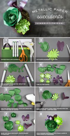 How to Make DIY Paper Succulents Succulents pattern and tutorial at Paper Flower Tutorial, Paper Flowers Diy, Felt Flowers, Flower Crafts, Fabric Flowers, Zipper Flowers, Bow Tutorial, Paper Succulents, Paper Plants