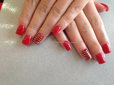 Acrylic+nails+a+kiss+in+Paris+red+gel+polish