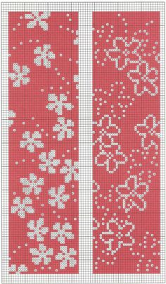 Sakura Patterns Cross Stitch