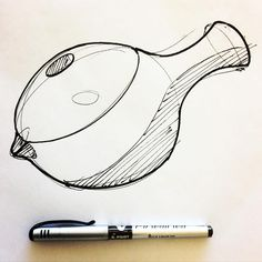 Good morning, this is a teapot. #designsketching #idsketching #industrialdesign #design #sketch #sketching #sketchbook #productdesign #process #sketchaday #id #concept #vessel #tea STETHEM.COM