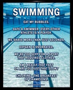 """Swimming Lanes Poster Print has an underwater pool image and funny sayings. """"Date a swimmer. Every other athlete is a player,"""" is one motivational swimming quote on this poster. Swimming Poster P Swimming Funny, Swimming Memes, I Love Swimming, Swimming Tips, Swimming Posters, Funny Swimming Quotes, Funny Sayings, Motivational Swimming Quotes, Olympic Swimming"""