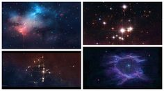 The Nebula and Star Cluster - Whirlpool Galaxy-Andromeda Galaxy-Black Holes
