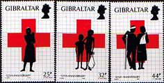 Gibraltar 1989 Red Cross Set Fine Mint SG 613/5 Scott 549/51 Other European and British Commonwealth Stamps