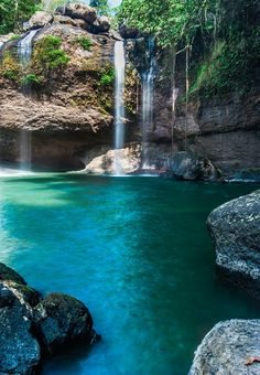 Haew Su Thad Waterfall in the Khao Yai National Park, Thailand