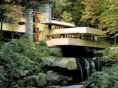 Frank Lloyd Wright, Falling Water (Şelale Evi), Organik Mimari, Pittsburgh, ABD