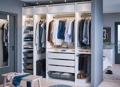 Walk In Closet Organizer Ikea Incredible Astonishing by no means go out of types. Walk In Closet Organizer Ikea Incredible As Master Bedroom Closet, Bedroom Wardrobe, Wardrobe Closet, Gray Bedroom, Walk In Closet, Fitted Wardrobe Interiors, Closet Ikea, Ikea Closet Organizer, Closet Organization