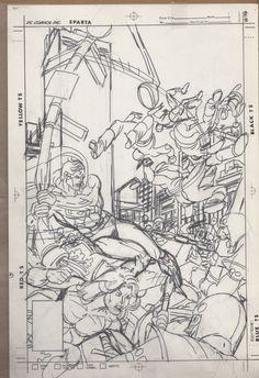 Gil Kane Superman detailed Cover Art prelim