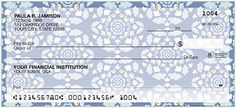 This wonderful new pattern design with pink and blue hues will add a classic look to your checkbook.  Order yours today!