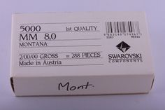 Crystal 179267: Swarovski Bead #5000 Round 8 Mm Montana 288 Pieces BUY IT NOW ONLY: $75.0