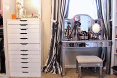 Makeup Set Up Idea Begehbarer Kleiderschrank, Schrank Eitelkeit,  Schminkzimmer, Ikea Alex Schubladen,
