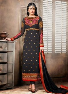 Alluring Black Pakistani Suit