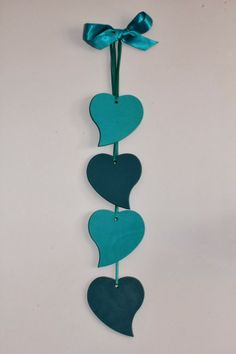 Wooden hearts in my favorite color! Wooden Hearts Crafts, Heart Crafts, Wooden Crafts, Clay Art Projects, Polymer Clay Projects, Clay Crafts, Heart Decorations, Valentine Decorations, Diy Home Crafts