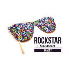 Photo Booth Props - Rockstar Sequin Glitter Sunglasses - Birthdays, Weddings, Parties - Photobooth Props on Etsy, $5.00