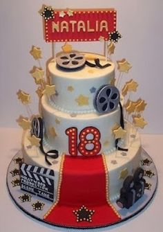 Hollywood theme cake!!! So cool!!