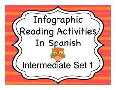 AWESOME reading activities based on infographics.  Looks like they have other sets available too.  Can't wait to use them.