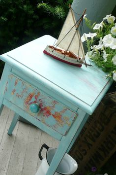 Sailor Blue Vintage Table