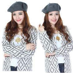 5 Colors New Fashion Wool Warm Women Beret Beanie Hat Cap Hot