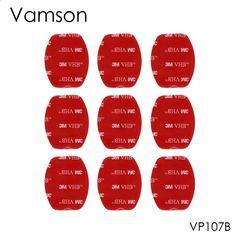 Vamson 9Pcs 3M Red Adhesive Sticker Double Faced Adhesive Tape For Gopro hero5 4 3  2SJ4000 Xiaomi Yi Sport Camera VP107B