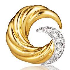 Verdura | Products | EARCLIPS | GOLD & DIAMOND | Swirl Earclips