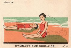 gymnastique scolaire   #vintage #ephemera