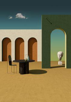 Surrealisme drawing by Giorgio de Chirico. Art Et Design, Set Design, Inspiration Art, Art Inspo, Interior Photography, Art Photography, Interior Natural, Furniture Sets Design, Painted Furniture