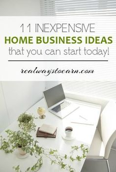 Want to start a home business, but don't have a lot of money to invest? Here's a list of eleven inexpensive home business ideas to start today. Starting A Business, Business Planning, Business Tips, Online Business, Business Website, Home Business Ideas, Business Opportunities, Craft Business, Business Names