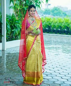 Bridal Sarees South Indian, South Indian Bride, Indian Sarees, Silk Sarees, Bridal Outfits, Boho Outfits, Indian Outfits, Saree Wedding, Wedding Bride