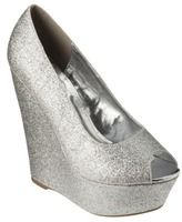 Silver Glitter Wedge Heels at ShopStyle