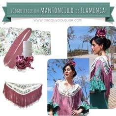 Cómo hacer un mantoncillo de flamenca paso a paso #DIY MUY BUENO Y MUY ELABORADO... Flamenco Skirt, Flamenco Dancers, Sewing Hacks, Sewing Tutorials, Dress Making Patterns, Crochet Collar, Clothes Crafts, Crochet Patterns, Fabric