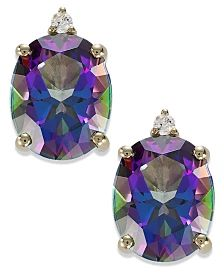 PRETTY 2 1//2 CARAT MYSTIC QUARTZ AND DIAMOND RIBBON NECKLACE HOT!! 18 INCHES