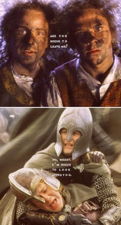 Merry Pippin  *cries* Their almost brotherhood relationship is JUST, I CAN'T
