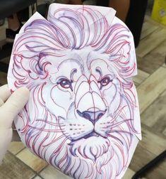 Lion Tattoo Design, Tattoo Design Drawings, Tattoo Sketches, Tattoo Designs, Portfolio, Big Cats, Blackwork, Stencils, Oriental