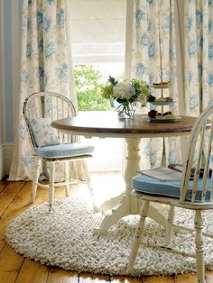 A fresh summery interior and perfect spot for morning tea.