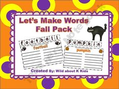 Making Fall Words product from Wild-about-Teaching on TeachersNotebook.com