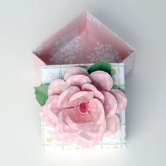 Elegant Handmade Paper FLOWER Decorated ORIGAMI by PapersAndPetals, $4.25