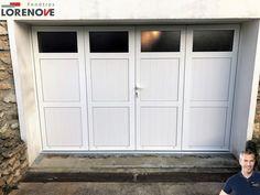 🆕 #Réalisation ❗️  Porte de garage battante Aluminium 4 vantaux, à chaque configuration sa solution ...  Le ➕ personnalisation, plus de 100 coloris au choix, hublots et vitrages ... afin de répondre à toutes vos idées.  Pour plus d'informations 01 60 62 94 25  #Lorenove #iLoveLorenove #Fabrication🇫🇷 #VoletsThiebaut #VertSaintDenis #77240 #Maison #Garage #Aluminium #Traditionnelle #Esthétique #Sécurité #Robustesse #Personnalisation #Authenticité #Vitrage #Blanc #Ral9016