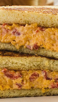 Georgia Pimento Cheese Recipe (made with Frank's Hot Sauce) _ A simple, Southern Classic - really good- especially on thick, buttery Texas toast! Pimento Cheese Sandwiches, Pimento Cheese Recipes, Pimiento Cheese, Bruschetta, Crostini, Paninis, Soup And Sandwich, Sandwich Recipes, Quesadillas