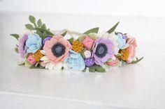 Flores corona corona de flores de bebé por LittleSugarSnapShop