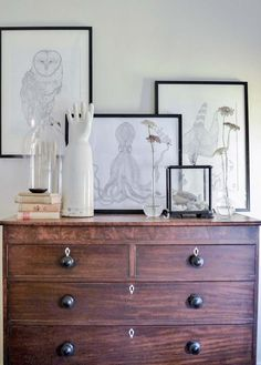A Floral Designers Romantically Styled Home in Savannah GA | DesignSponge ETS #art #vignettes