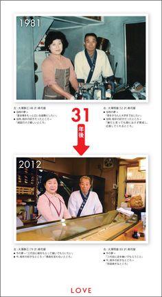 LOVE:1981年 → 2012年