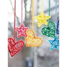 These mini Dream catchers are rather cute. You could create a beautiful display using just the hearts for Valentine's day or tone down the colors for a babies room or toddlers mobile. Crochet…