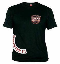 43 Support81 Hells Angels 1% Supporter Big Red Machine T-Shirt Schwarz