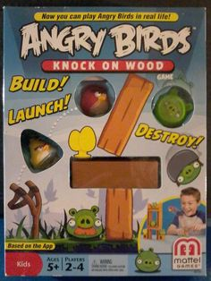 Angry Birds Knock On Wood KIDS RAINY DAY Game - Mattel New in Box 5+  Daycare #Mattel