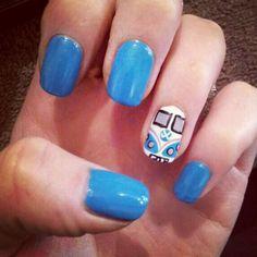 camper van nail art