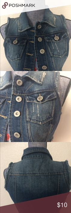 Denim vest like new condition 😍😍 Demin vest like new condition. Size (s) Highway Jeans Jackets & Coats Jean Jackets