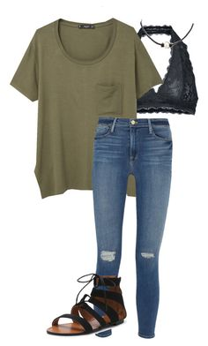 """Untitled #31"" by fia2002 on Polyvore featuring Free People, MANGO and Frame Denim"