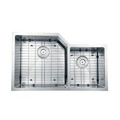 Ruvati 16-gauge Stainless Steel 33-inch Double Bowl Undermount Kitchen Sink   Overstock.com